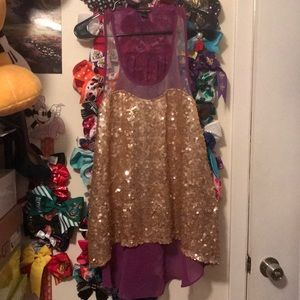 Purple and gold sequin top!